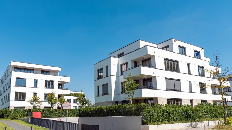Urbanización con viviendas