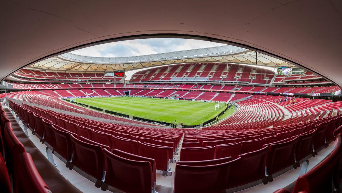 Interior del nuevo estadio Wanda Metropolitano