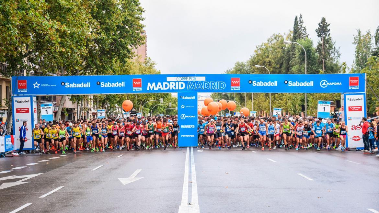 Línea de salida de la carrera Madrid corre por Madrid en el 2019