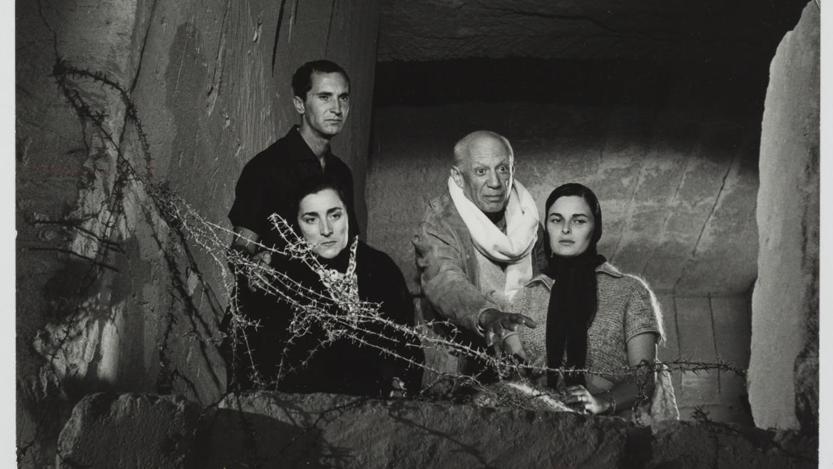Picasso en el rodaje de la película El testamento de Orfeo