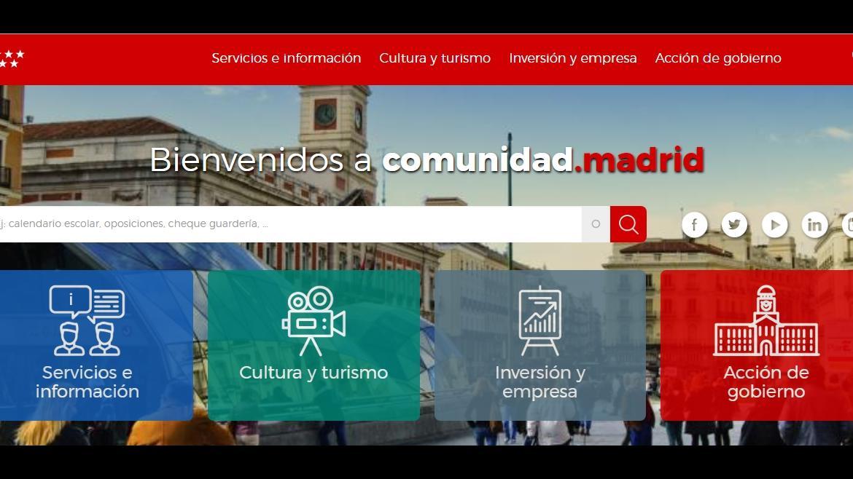 Nueva web Comunidad de Madrid