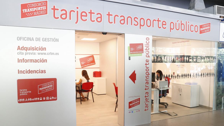 Imagen de una oficina de gestión de la Tarjeta Transporte Público