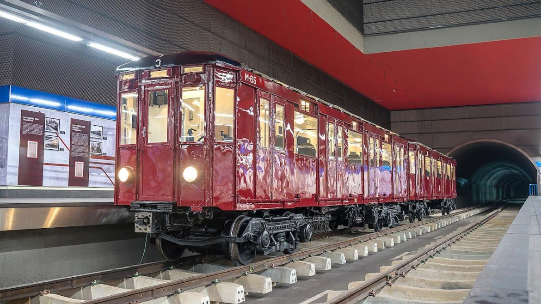 Tren clásico restaurado