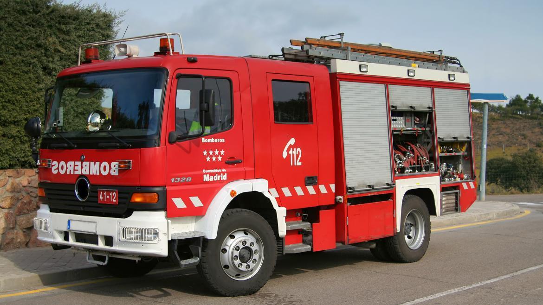 Coche de bomberos de la Comunidad de Madrid