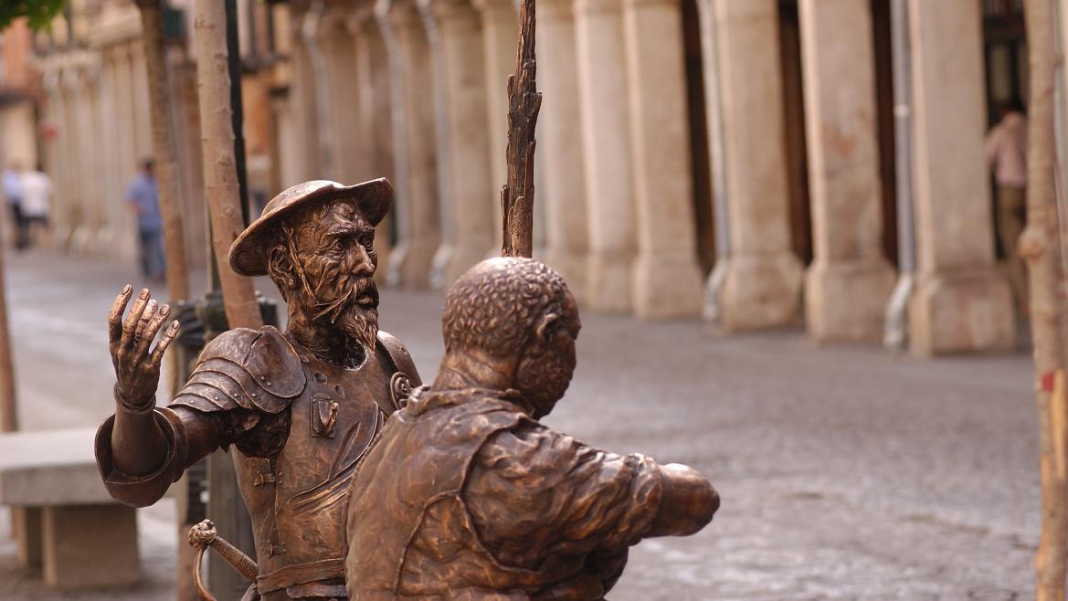 Don Quijote y Sancho Panza en Alcalá de Henares
