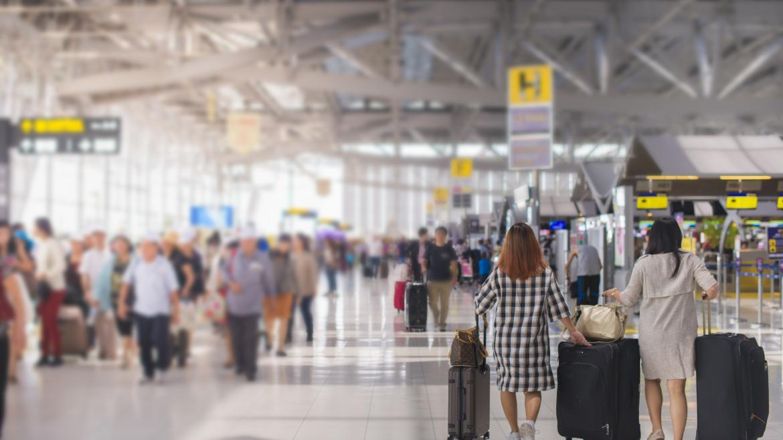 Interior del Aeropuerto Madrid Barajas Adolfo Suarez