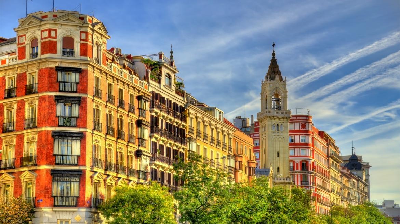 Una calle típica de Madrid