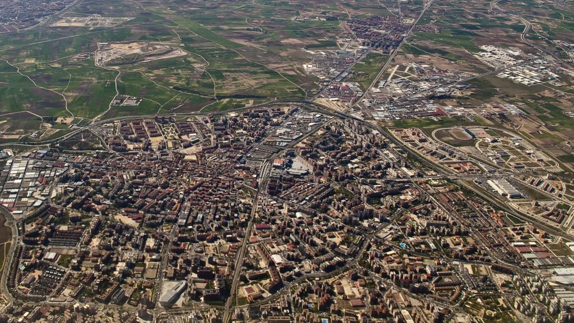 Madrid, vista aérea