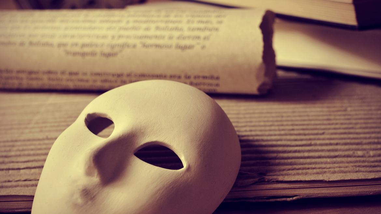 Mascara teatro sobre libros