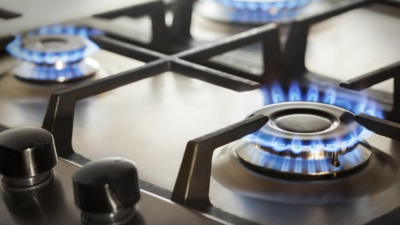 Cocina con gas