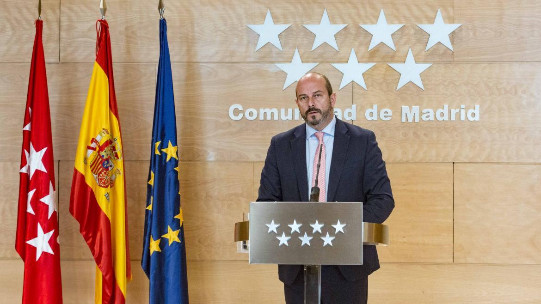 Pedro Rollán en la rueda de prensa tras el Consejo de Gobierno