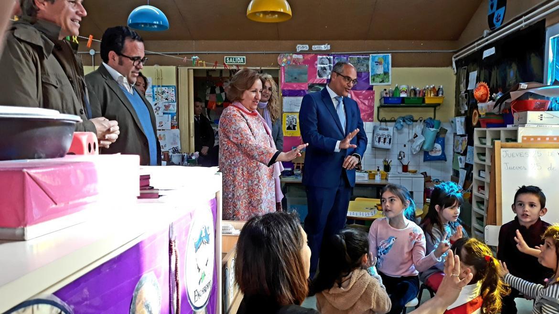 Rafael van Grieken en el colegio público Príncipe Don Felipe