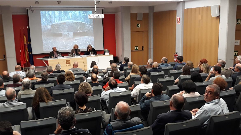 La directora general de Patrimonio Cultural, Paloma Sobrini, en la presentación del Plan Regional de Fortificaciones de la Guerra Civil (1936-1939) de la Comunidad de Madrid