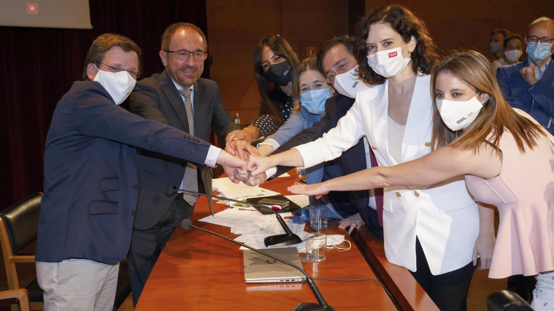 Isabel Díaz Ayuso en el reconocimiento del Paseo del Prado y El Retiro como Patrimonio Mundial de la UNESCO