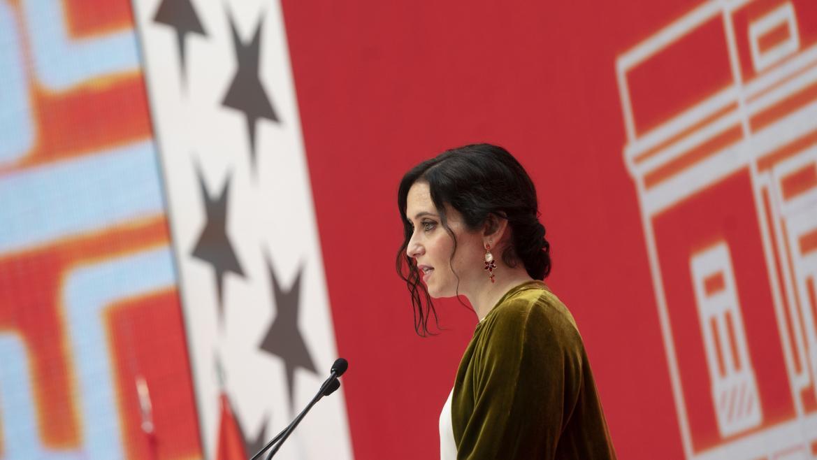 Isabel Díaz Ayuso interviene en el acto del 2 de mayo