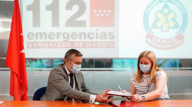 La Comunidad y el Ayuntamiento de Madrid refuerzan la coordinación de sus servicios de emergencias en la sede de la ASEM112.