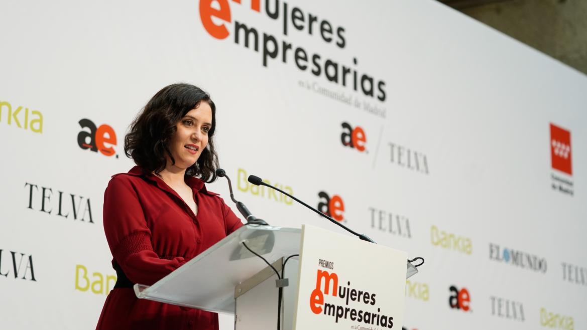 Isabel Díaz Ayuso en los Premios Mujeres Empresarias en la Comunidad de Madrid Actualidad Económica / Telva