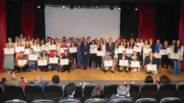 Pedro Rollán en la entrega de los Premios Extraordinarios de la Comunidad de Madrid