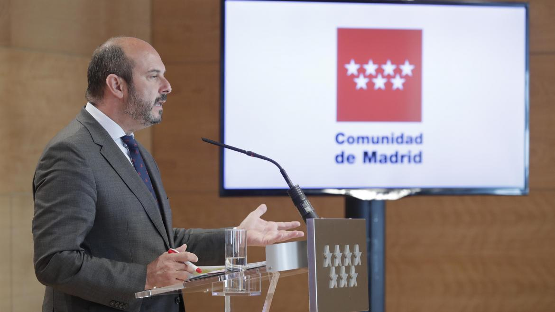 Pedro Rollán en rueda de prensa