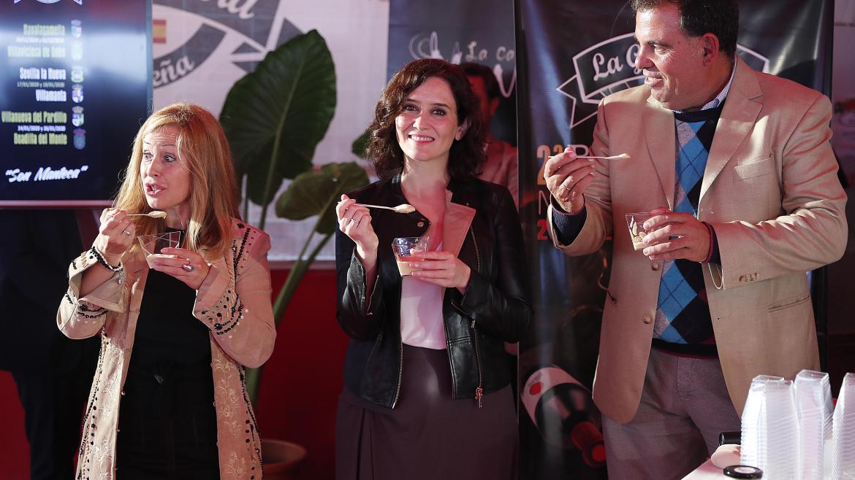 Isabel Díaz Ayuso durante la presentación de la II Ruta del Garbanzo Madrileño