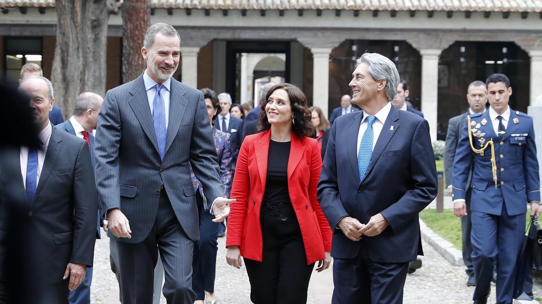 Isabel Díaz Ayuso con Felipe VI