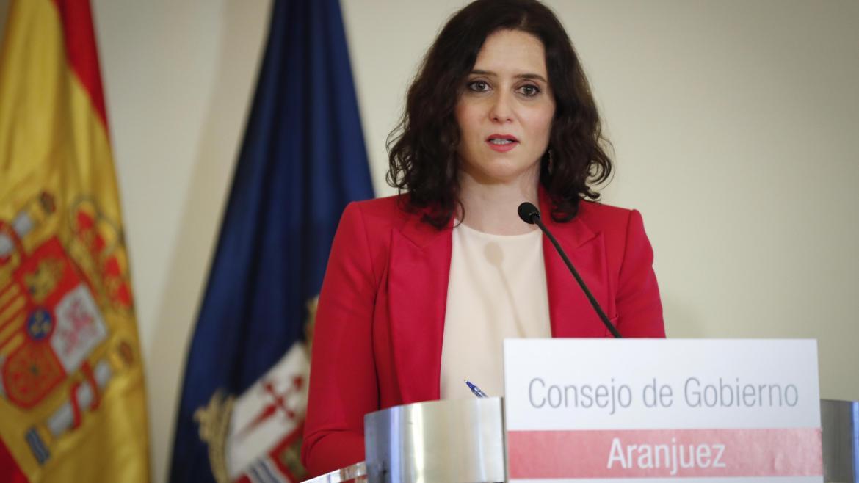 Díaz Ayuso en la rueda de prensa del consejo de gobierno