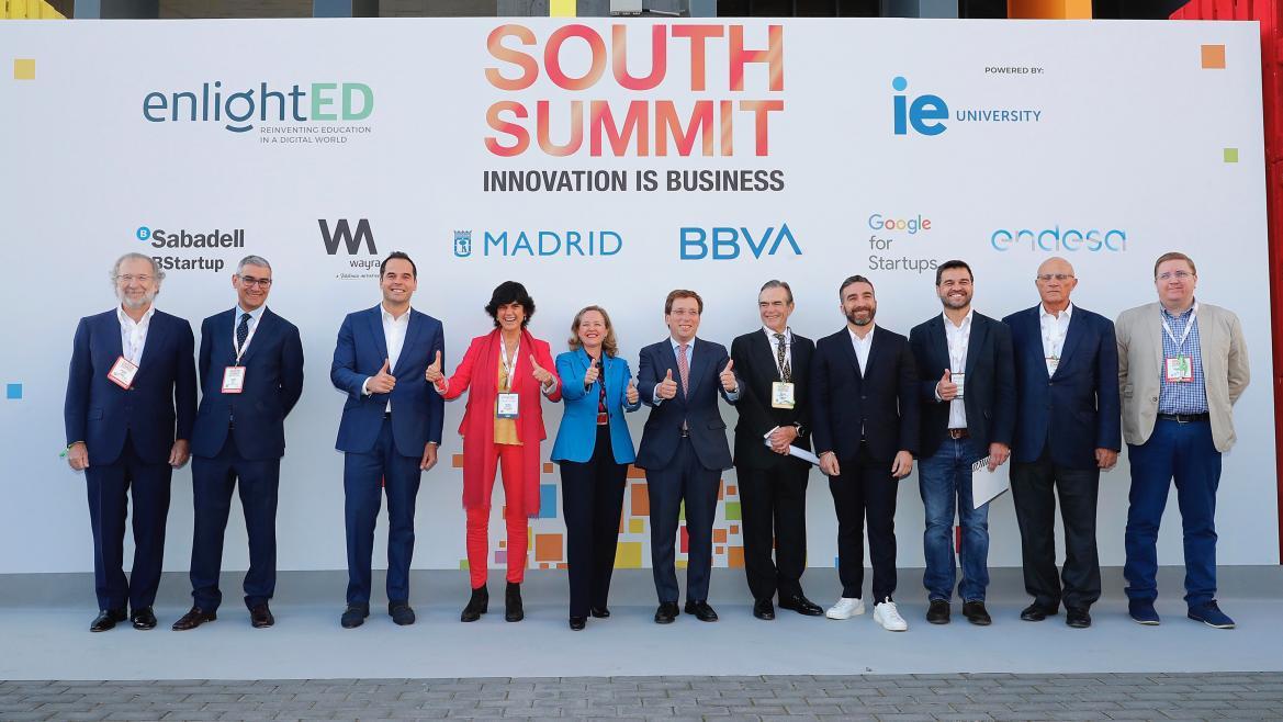 Ignacio Aguado junto al resto de autoridades en la jornada de inauguración de la sexta edición de South Summit Madrid