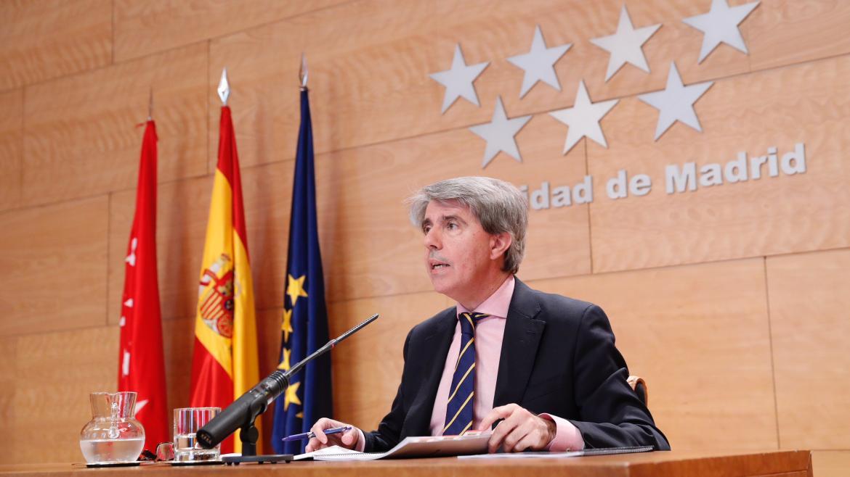 Ángel Garrido en la rueda de prensa posterior al Consejo de Gobierno