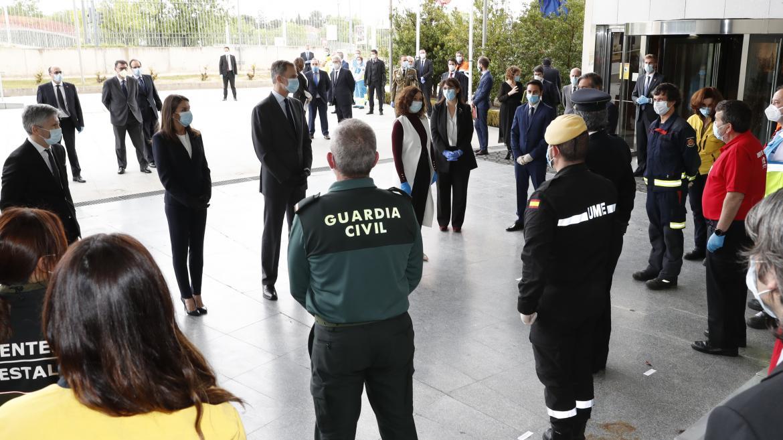 Isabel Díaz Ayuso durante la visita de SSMM los Reyes a la ASEM112