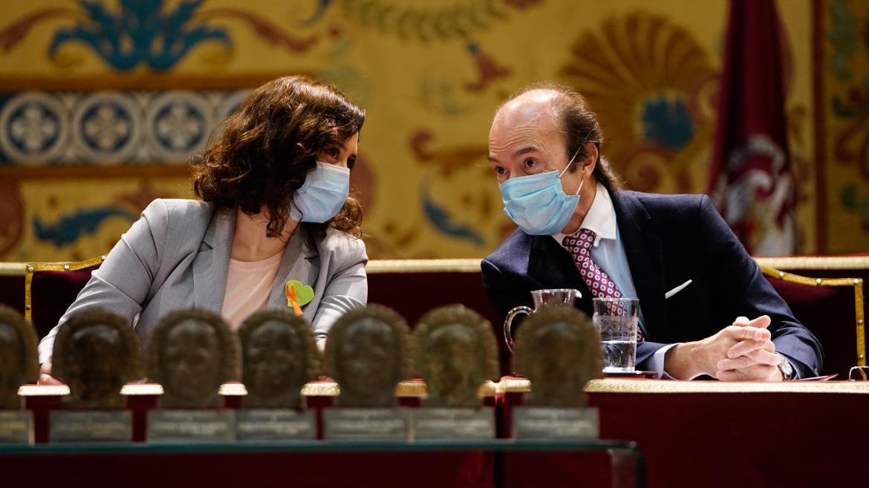 Díaz Ayuso y Eduardo Sicilia