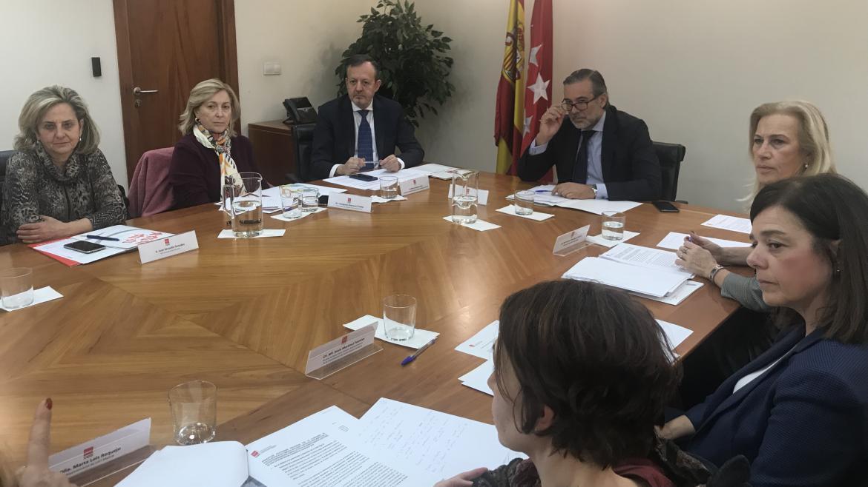 Enrique López durante la reunión del Observatorio Regional de Violencia de Género