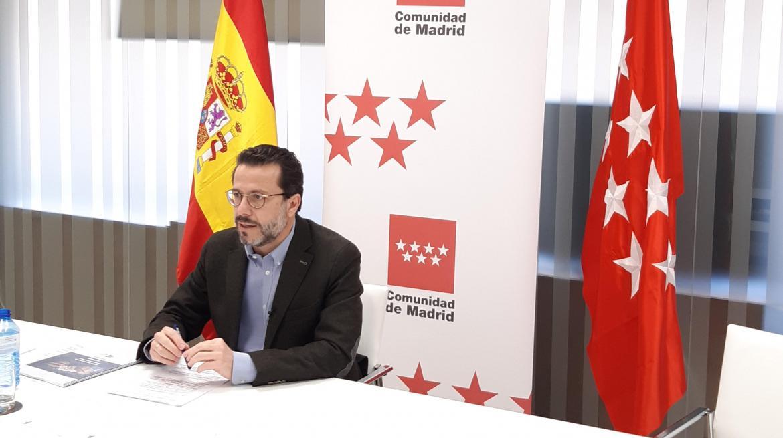 Javier Fernández-Lasquetty durante la rueda de prensa