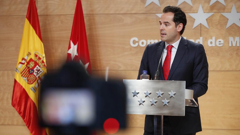 Ignacio Aguado durante la rueda de prensa posterior al Consejo de Gobierno