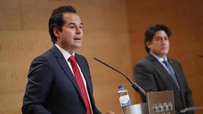 Ignacio Aguado durante la rueda de prensa tras el Consejo de Gobierno