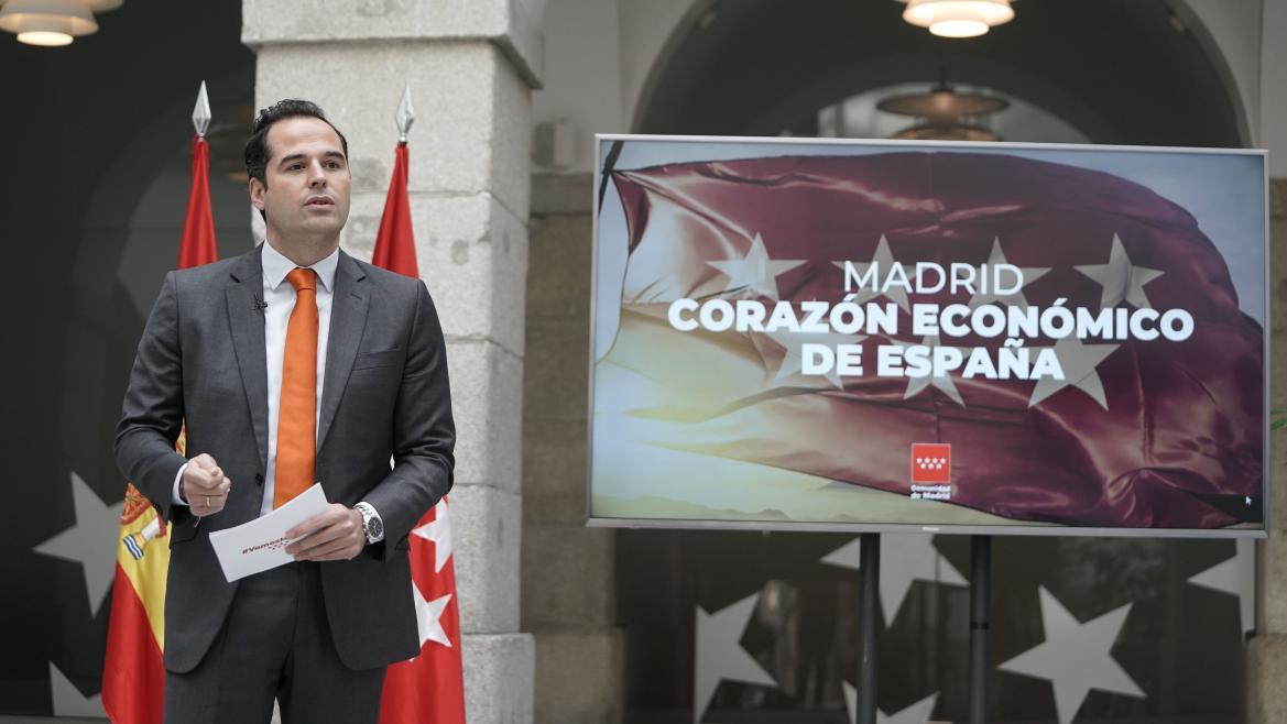 Ignacio Aguado durante la presentación del balance de la Contabilidad Regional Trimestral