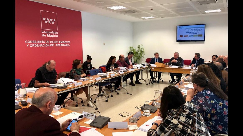 Pablo Altozano en la reunión para mejorar la movilidad en el Parque Nacional de la Sierra de Guadarrama