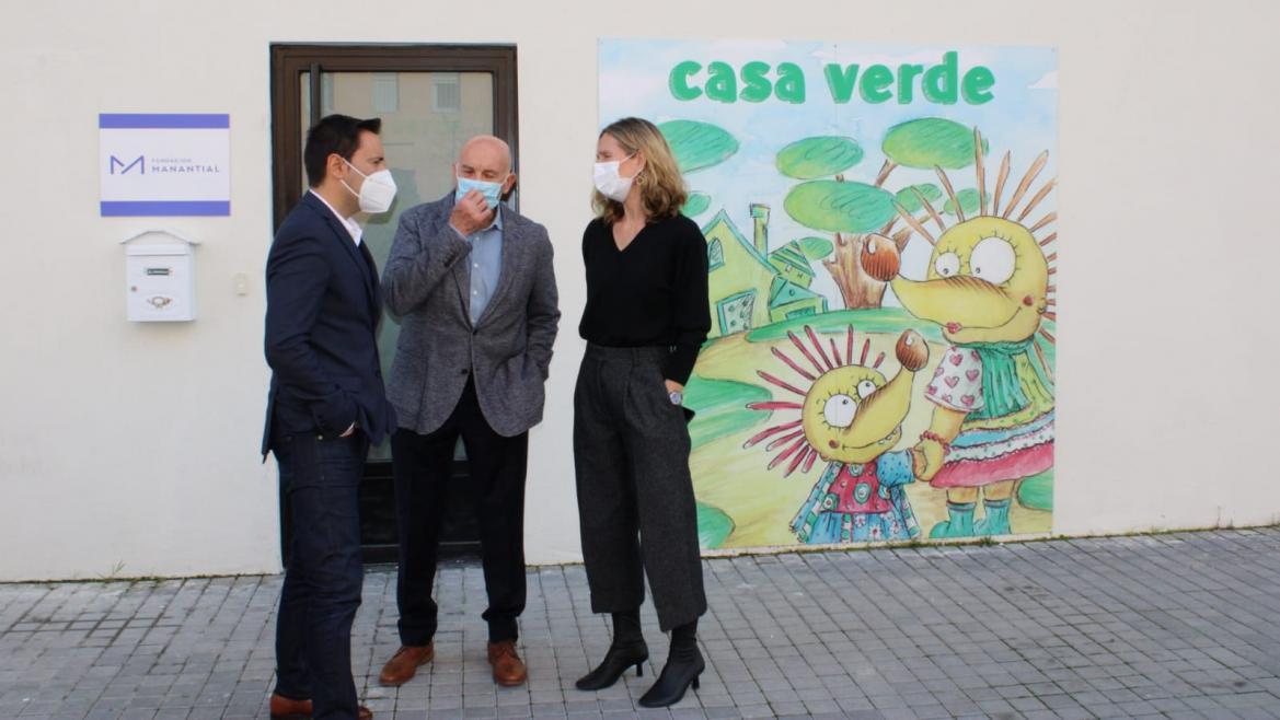 Javier Luengo ha visitado La Casa Verde de la Fundación Manantial