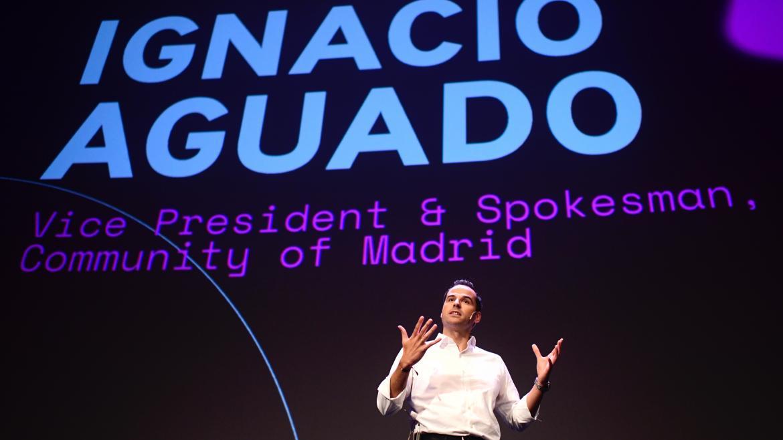 Ignacio Aguado durante el evento