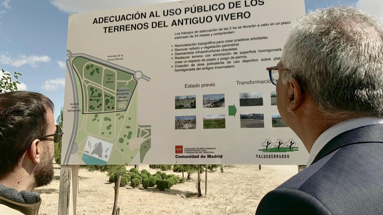 Carlos Izquierdo en el Parque Forestal de Valdebernardo