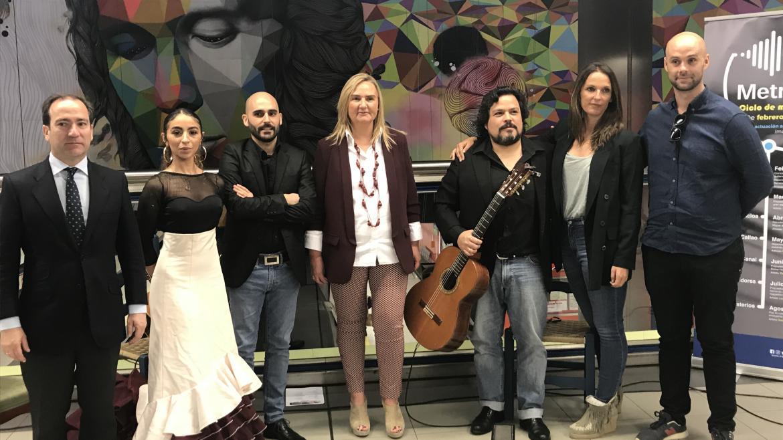 Rosalía Gonzalo en la presentación del ciclo de música en directo 'Metro Vibra'