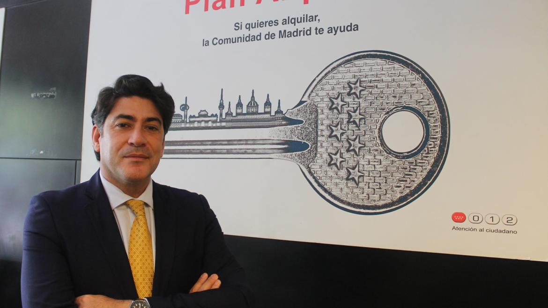 David Pérez durante la visita