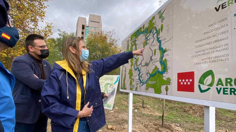 Martín visita las obras de Arco Verde en Alcobendas