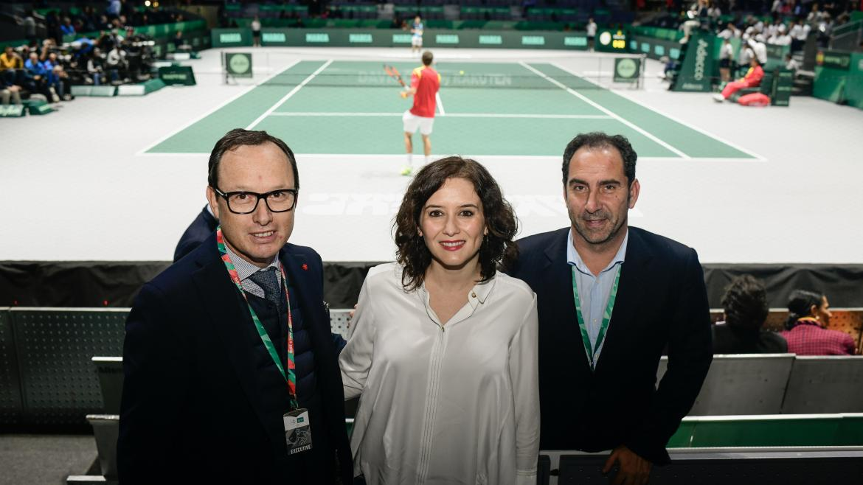 Isabel Díaz Ayuso asiste a la Copa Davis