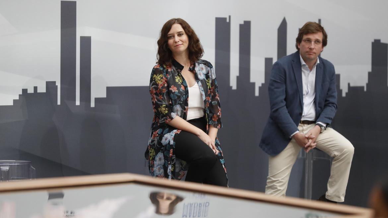 Isabel Díaz Ayuso durante la presentación de la nueva maqueta digital de Madrid Nuevo Norte