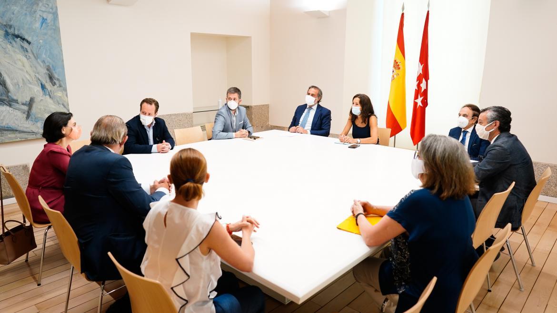 Imagen de la reunión mantenida