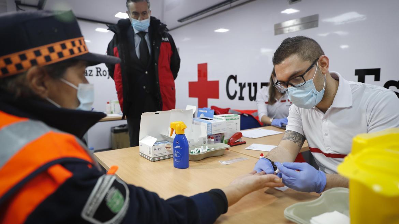 Test covid voluntario protección civil