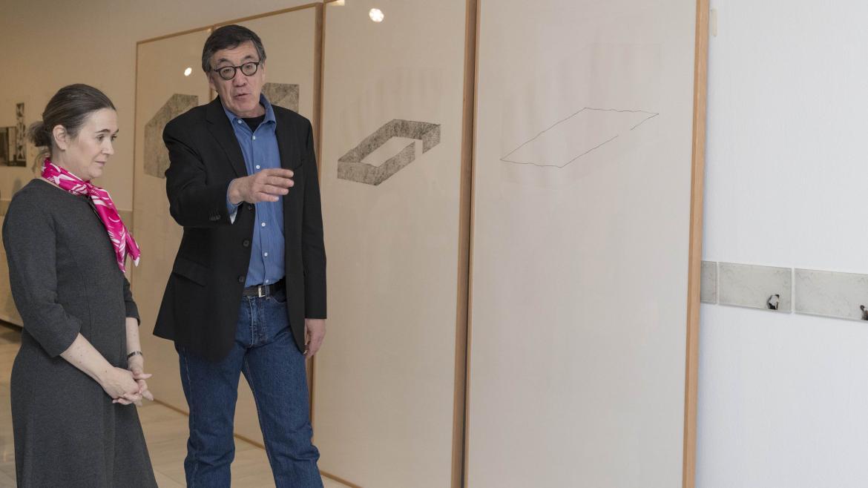 Marta Rivera durante la inauguración de la muestra 'Arquitectura y «yo»'