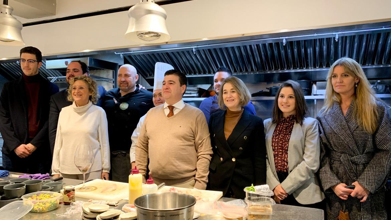 Marta Rivera durante su visita a Aranjuez y Belmonte de Tajo
