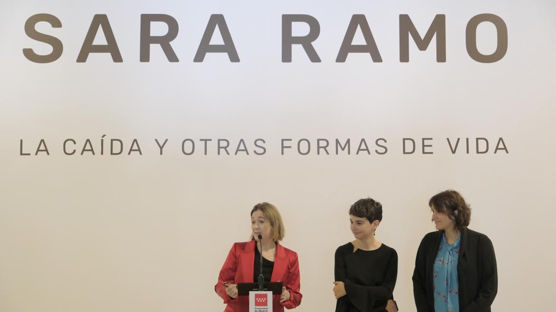 Marta Rivera durante la presentación de la exposición