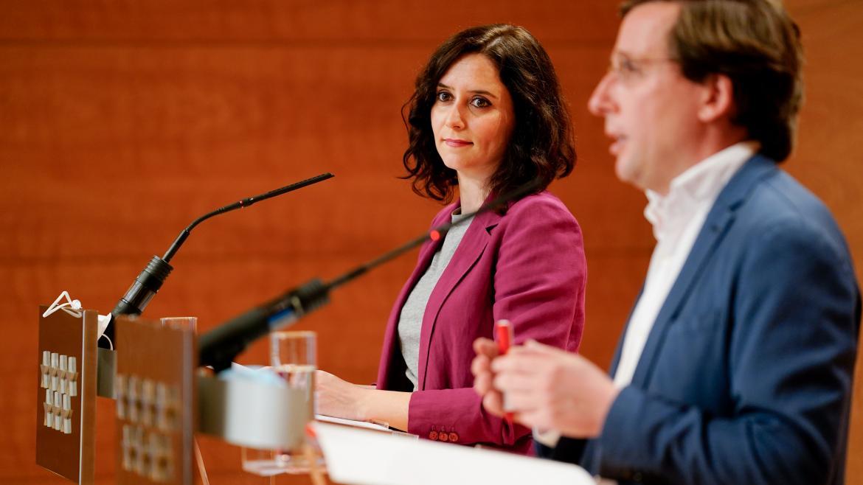 Sala de prensa Ayuso y Almeida